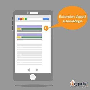 Extension Appel automatique sur Google Adwords